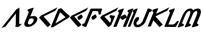 Presley Press ExtraBold Ital Font LOWERCASE