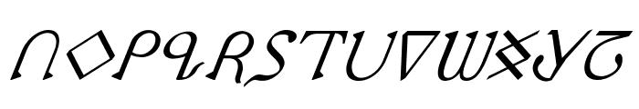 Presley Press Italic Font UPPERCASE