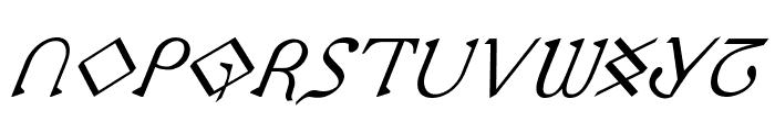 Presley Press Italic Font LOWERCASE