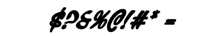Press Darling Bold Italic Font OTHER CHARS