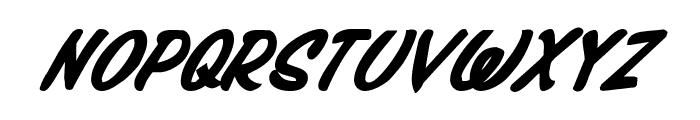 Press Darling Bold Italic Font UPPERCASE