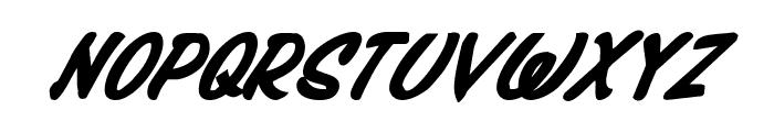 Press Darling Bold Italic Font LOWERCASE