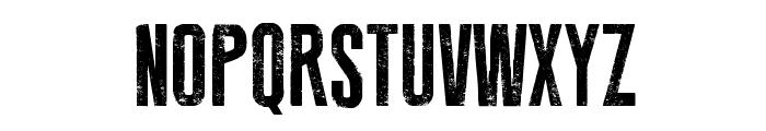 Press Feeling Eroded Font UPPERCASE