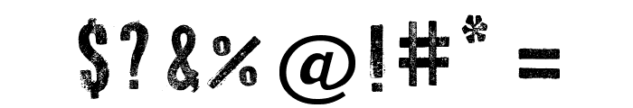Press Style Serif Font OTHER CHARS