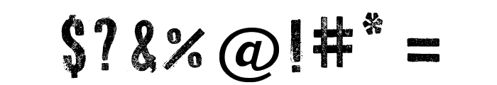 Press Style Font OTHER CHARS