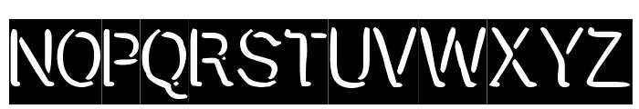 Presstape Lite Font UPPERCASE