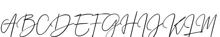 Prestige Signature Script - Demo Font UPPERCASE