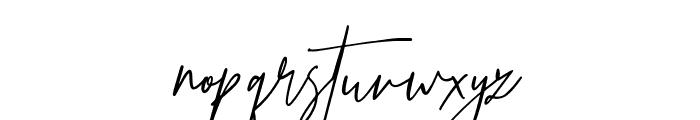 Prestige Signature Script - Demo Font LOWERCASE