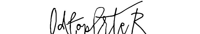 PrestigeScriptAlt Font OTHER CHARS