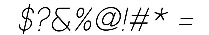 Prestij Demo Light Italic Font OTHER CHARS