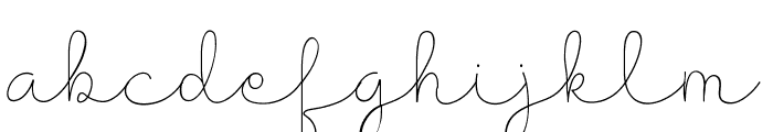 Presty Light Font LOWERCASE