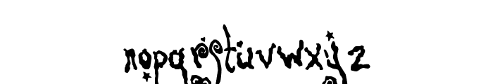 Pretty On The Inside Font LOWERCASE