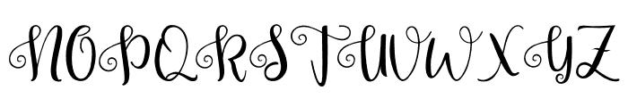 Pretty Queen Font UPPERCASE