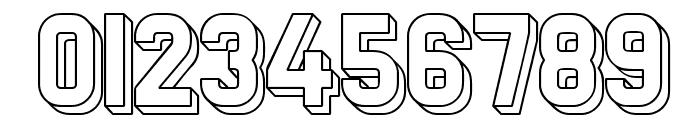 Preussische VI 9 Schatten-Linie Font OTHER CHARS