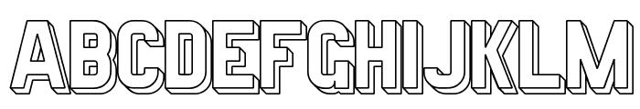 Preussische VI 9 Schatten-Linie Font UPPERCASE