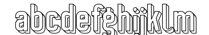 Preussische VI 9 Schatten-Linie Font LOWERCASE