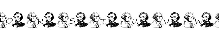 Prez Day Font Font UPPERCASE