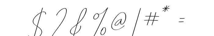 Pricillia Font OTHER CHARS