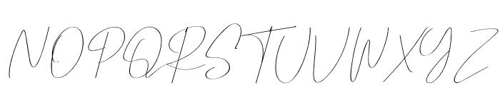 Pricillia Font UPPERCASE