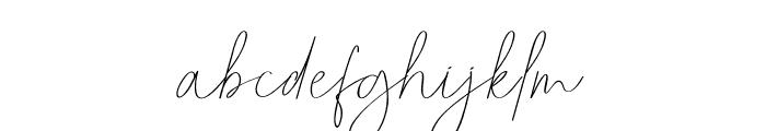 Pricillia Font LOWERCASE