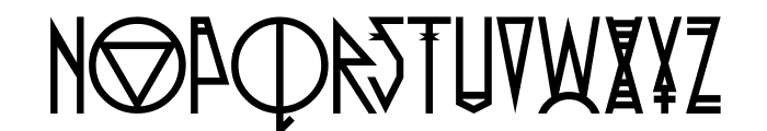 Pride Of The Young Font UPPERCASE