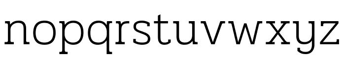 Pridi ExtraLight Font LOWERCASE