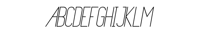 Primadona Italic Font UPPERCASE