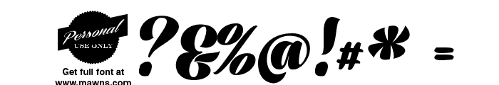 Prime Script PERSONAL USE ONLY Font OTHER CHARS