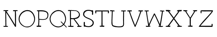 Primitiva Slab Light Font UPPERCASE