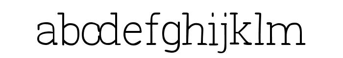 Primitiva Slab Light Font LOWERCASE