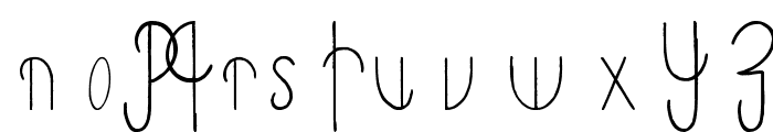 Primitive Alien Font UPPERCASE
