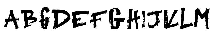 Primitive Regular Font LOWERCASE