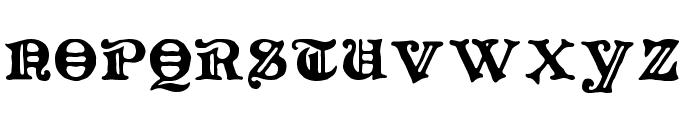 Primitive Font UPPERCASE