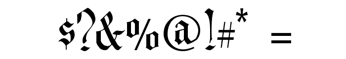 Prince Valiant Font OTHER CHARS