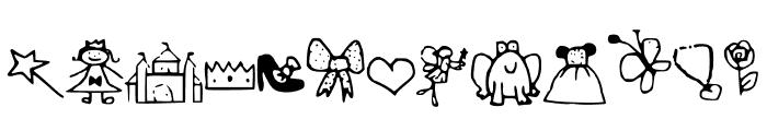 PrincessDings Font LOWERCASE