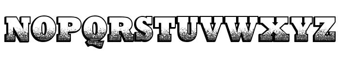 Print Oldyz Font UPPERCASE