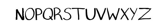 Printcess Font UPPERCASE