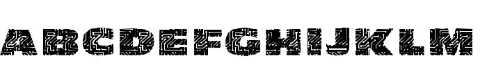 PrintedCircuit Font UPPERCASE