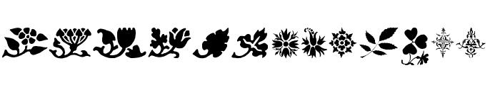 PrintersOrnamentsOne Font LOWERCASE