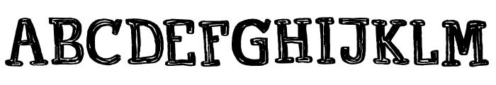 Printout DEMO Regular Font UPPERCASE