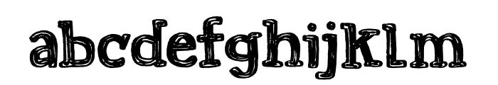 Printout DEMO Regular Font LOWERCASE