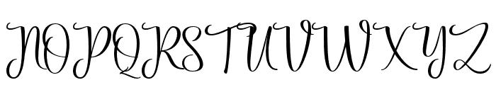 Priscilla Script Regular Font UPPERCASE