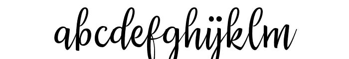 Priscilla Script Regular Font LOWERCASE