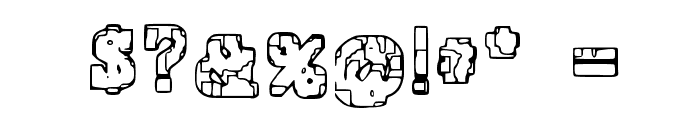 Prison Tattoo Font OTHER CHARS