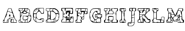 Prison Tattoo Font UPPERCASE