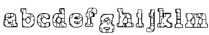 Prison Tattoo Font LOWERCASE