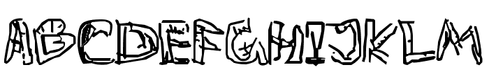 Private Death Font UPPERCASE