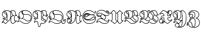 Proclamate Outline Heavy Font UPPERCASE