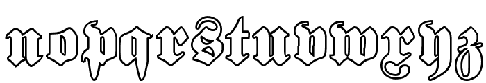 Proclamate Outline Heavy Font LOWERCASE