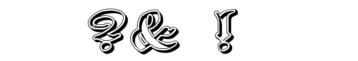 Proclamate Ribbon Heavy Font OTHER CHARS